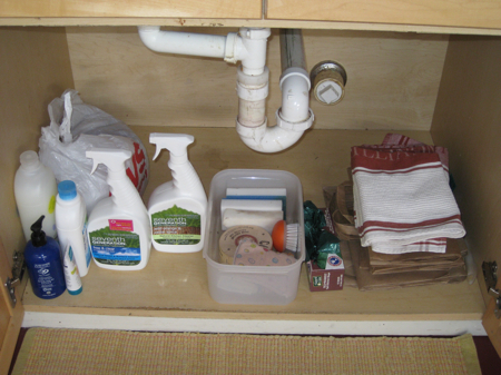 Cleaning Out The Clutter Under The Kitchen Sink. | Simple. Organized ...