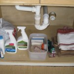 undersink1 150x150 10 Tips To Reduce Your Clutter And Get Organized.