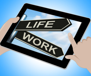 Life Work Tablet Means Balance Of Career Health And Relationship